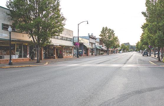 Shelton empty street