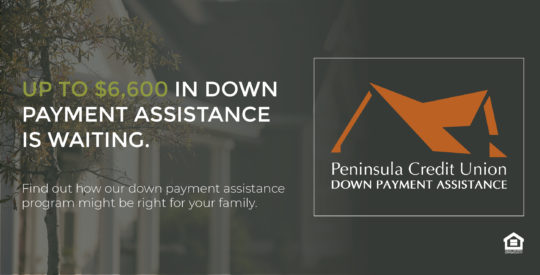 an ad talking about the availability of down payment assistance
