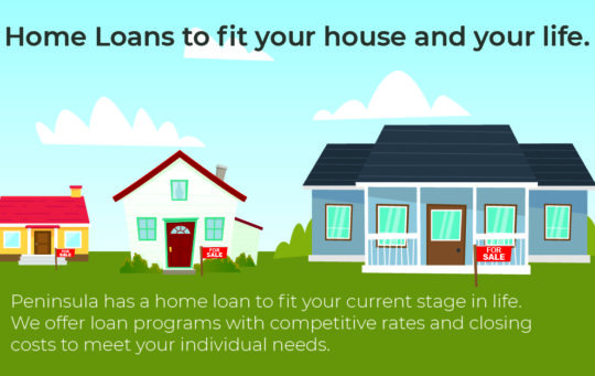 Home Loan cartoon, home loans to fit your needs.