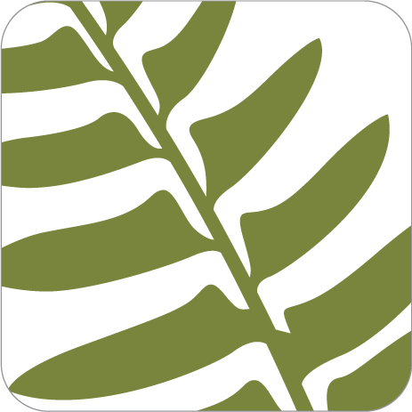 PCU Perks App icon. A closeup of a green fern leaf on a white background.