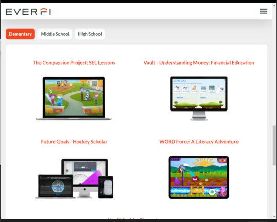 Everfi Website Screen shot