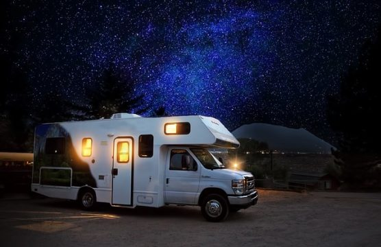 RV at nighttime